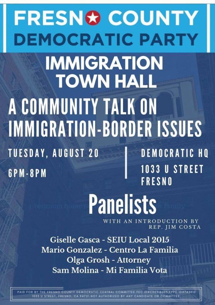 Flyer - Immigration Town Hall 20190820