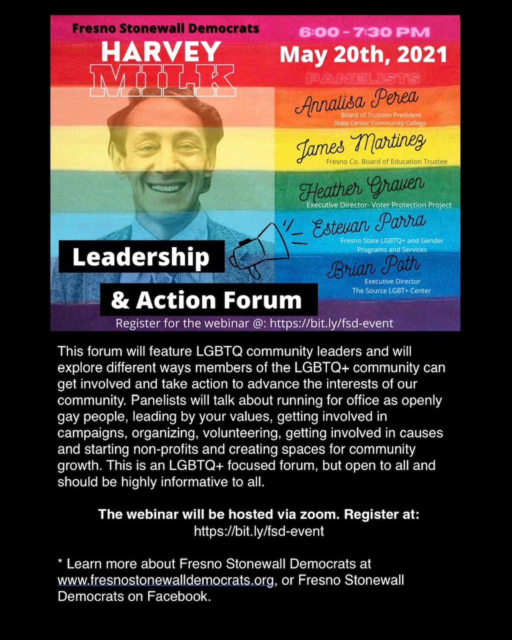 Harvey Milk Leadership & Action Forum